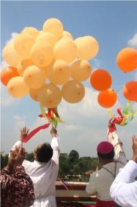 pelepasan balon
